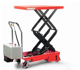 Mobiler Hubtischwagen elektrisch - Mit Doppelschere