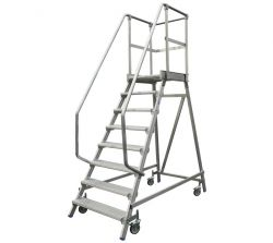 Stabilo® Podestleiter fahrbar 3 - 8 Stufen