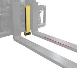 Laser Gabelführungssystem -Linie- Anschaltung ab der voreingestellten Hubhöhe
