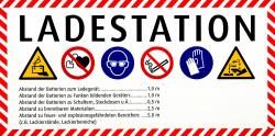 Sicherheitskennzeichnung für Ladestation