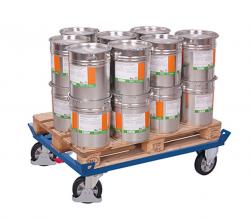 Palettenfahrgestell - Tragkraft: 1.200 kg Elastikvollgummiräder