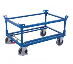 Palettenfahrgestell mit Winkelrahmen - Tragkraft: 500 kg Thermoplastische Gummiräder