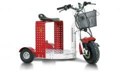 Elektro-Transportroller EuroScooter II, kurze Plattform, max. 15km/h