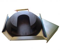 Stecktellerplatte 300-400 mit Halter links