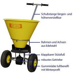 Streuwagen mit Edelstahl-Rahmen