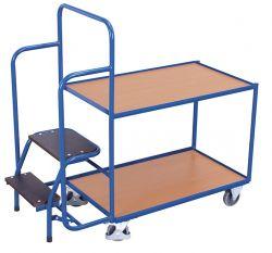 Kommissionierwagen niedrig, Mit 2 Ladeflächen, Tragkraft: 250 kg